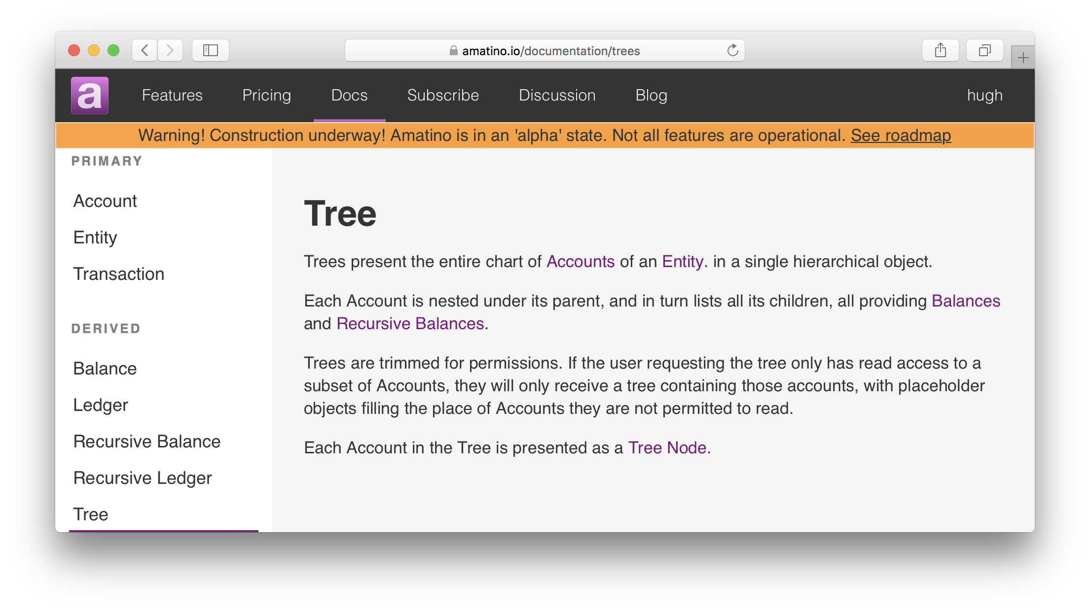 Documentation update: Trees – Amatino Blog
