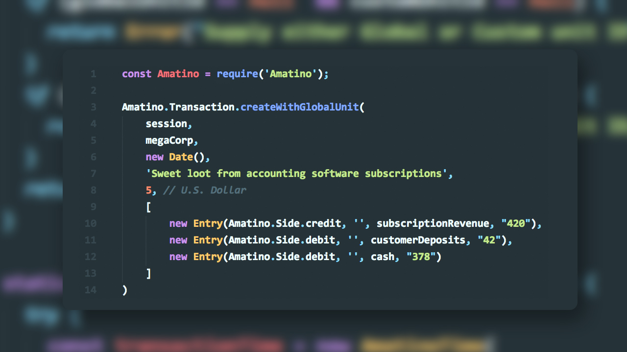 Amatino Node.JS 0.0.12